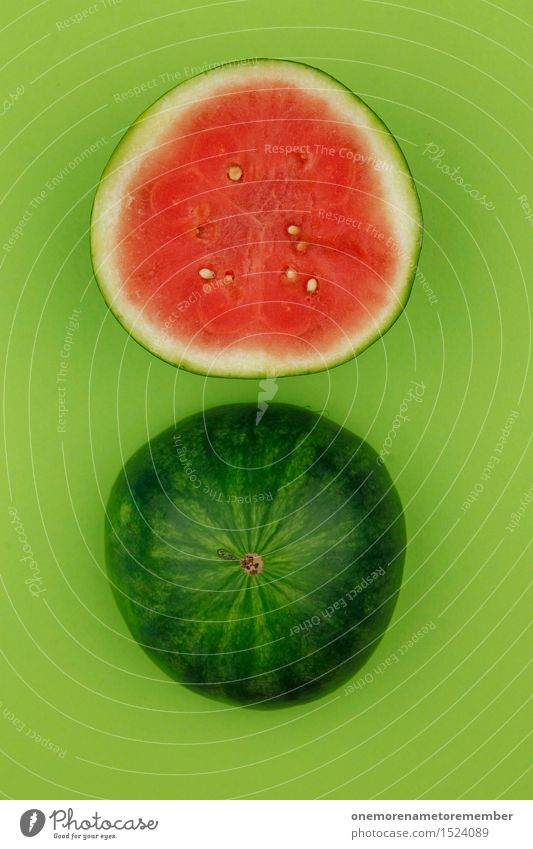 Green Summer Water Red Art Fruit Esthetic Round Delicious Division Refreshment Work of art Kernels & Pits & Stones Cap Melon Derby