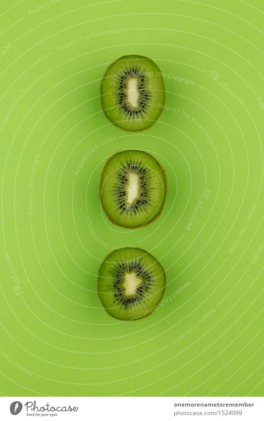 Green Art Fruit Esthetic Delicious Row Work of art Symmetry Vitamin-rich Kiwifruit Tropical fruits Grass green