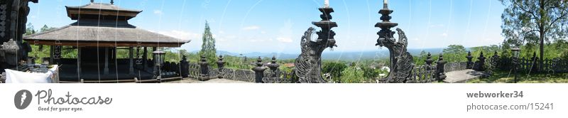 Far-off places Large Horizon Indonesia Gate Panorama (Format) Temple Monastery Bali Los Angeles
