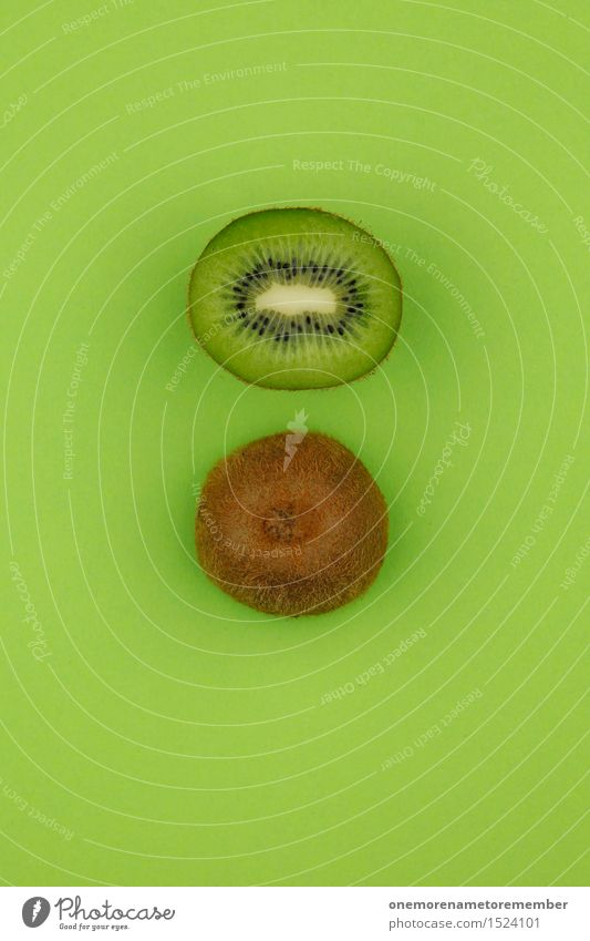 kiwi Zack! Art Work of art Esthetic Kiwifruit Half 2 Green Grass green Delicious Vitamin-rich Division Multicoloured Vegetarian diet Organic produce