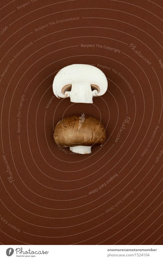Healthy Eating Art Brown Decoration Esthetic Delicious Division Mushroom Vegetarian diet Work of art Mushroom cap Divided Button mushroom