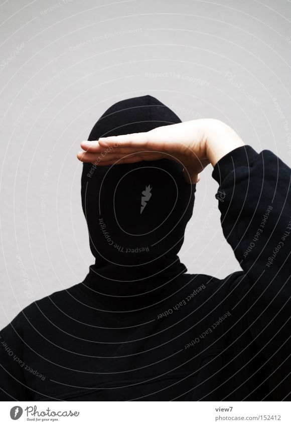 prospect Man Gesture Hand Looking Appearance Face Fingers Detail Balaclava Criminal Invisible Unrecognizable Anonymous Arm Concentrate Illicit work