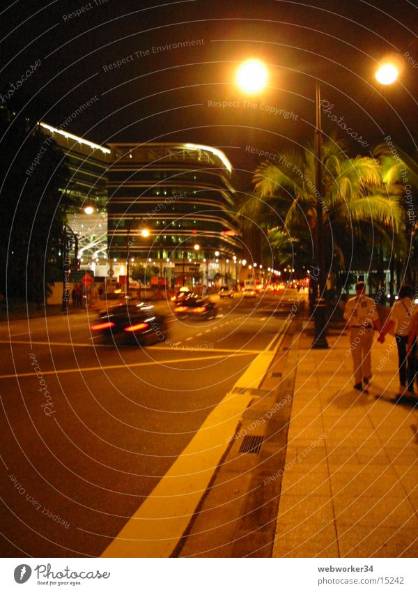 Singapore's shopping street at night Pedestrian precinct Night Transport Success orchard road