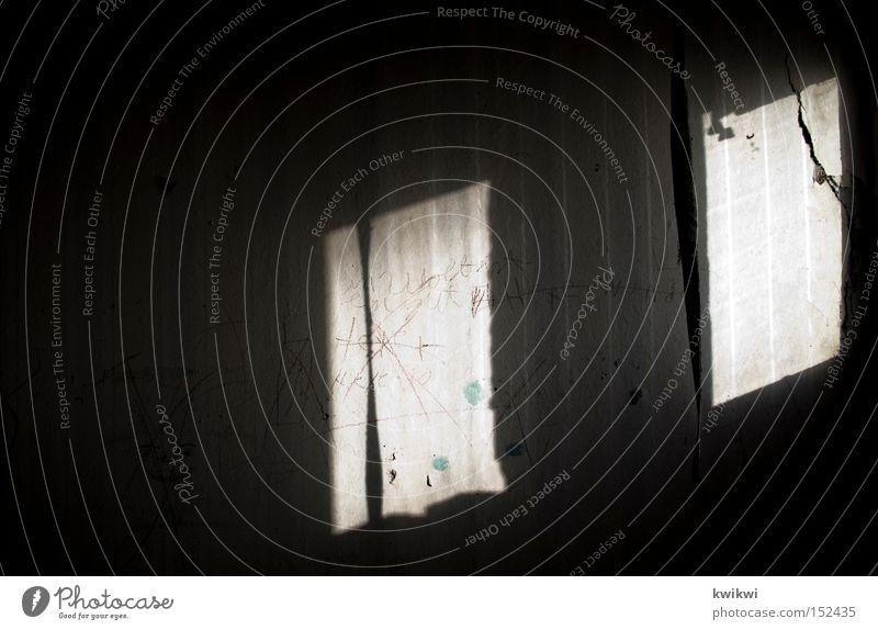 marodeshadowwandspiel Shadow Wall (building) Light Dark Window Wallpaper Tumbledown Derelict Old Dirty Living or residing