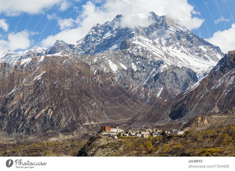 Jharkot Village on the Annapurna Circuit Vacation & Travel Tourism Mountain Hiking Nature Landscape the Himalayas Peak Snowcapped peak Small Town Nepal trekking