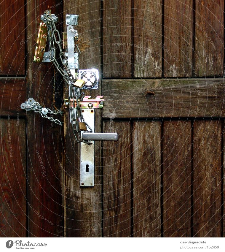 Wood Fear Door Closed Safety Protection Transience Gate Derelict Lock Chain Wooden board Panic Door handle Handicraft Collateralization