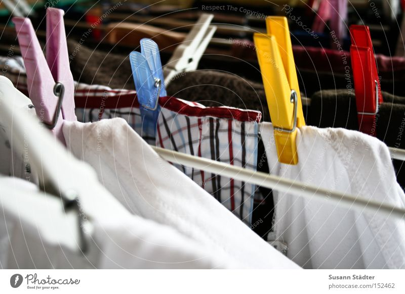 Honey, please hang up the laundry! Laundry Dry To hold on Holder Shirt T-shirt Washing Dirty Detergent Washer drum Hang up Warmth Things Clothing Household