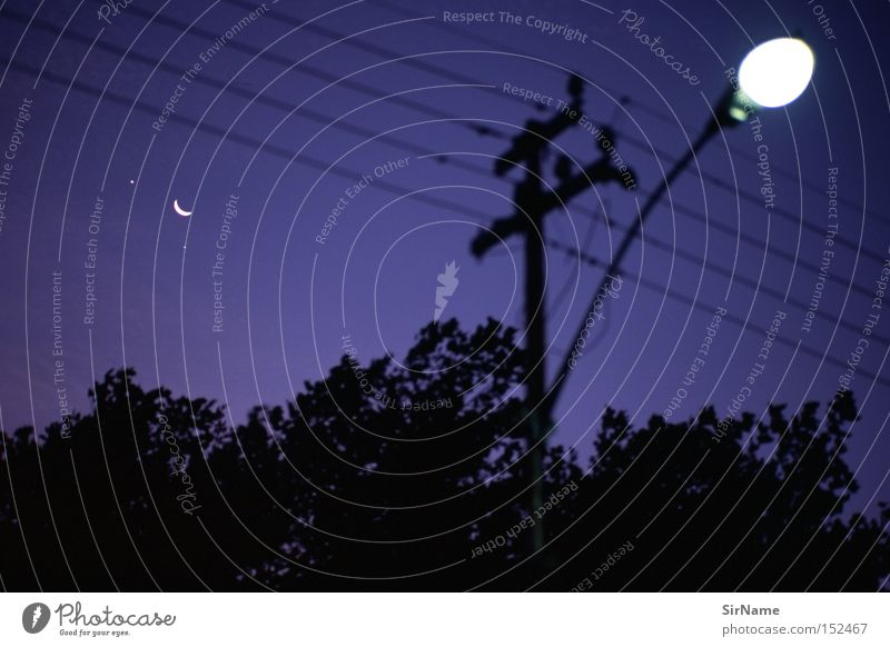 Blue Black Dark Cable Africa Lantern Street lighting Moon Planet Celestial bodies and the universe