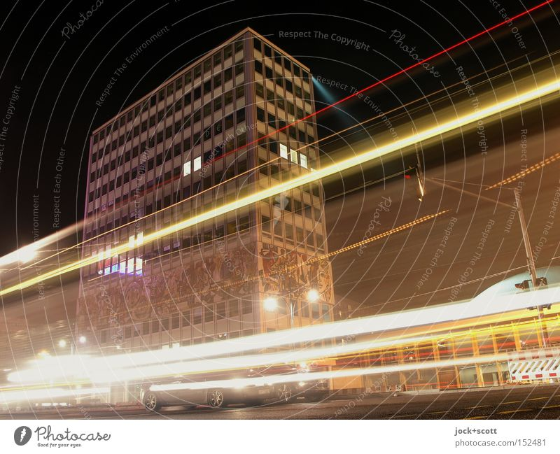 City Joy Life Lanes & trails Line Facade Berlin Car Modern Tall Speed Signage Driving Network Traffic infrastructure Downtown