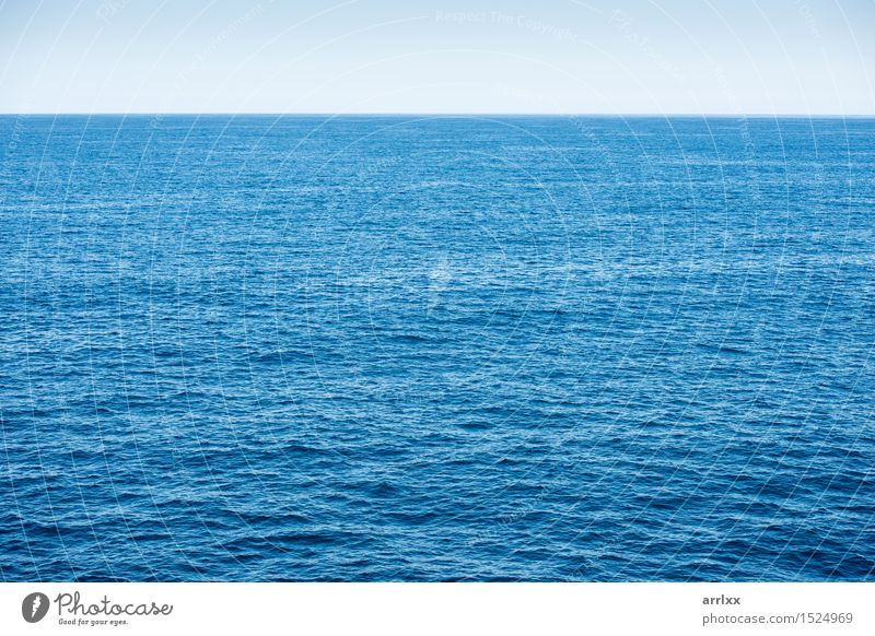 Blue ocean background with blue sky Vacation & Travel Ocean Environment Nature Landscape Water Sky Horizon Climate Climate change Weather Waves Dark Natural