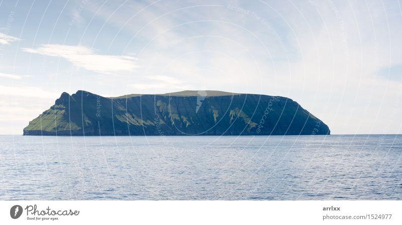 Stora Dimun island on the Faroe Islands Vacation & Travel Ocean Environment Nature Landscape Rock Stone Blue Emotions intense Dramatic mood positive stunning