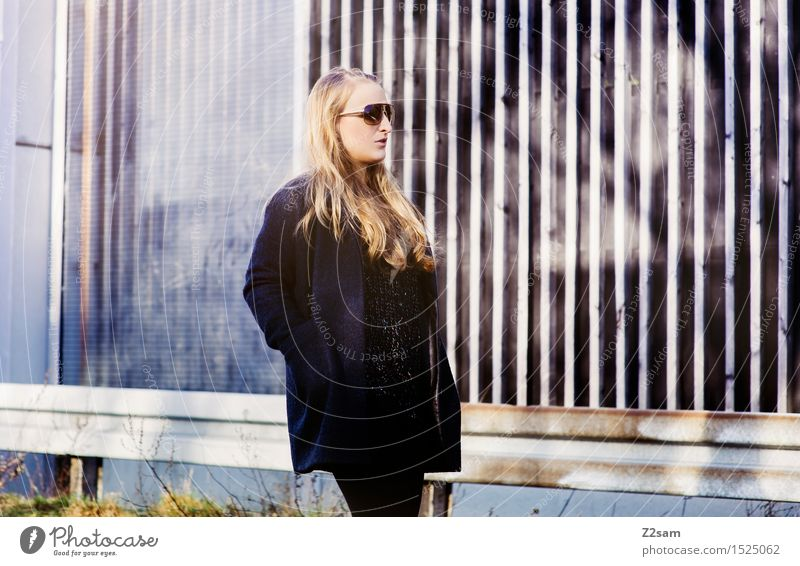Youth (Young adults) City Beautiful Young woman Adults Street Feminine Fashion Going Elegant Modern Power Blonde Perspective Uniqueness Cool (slang)