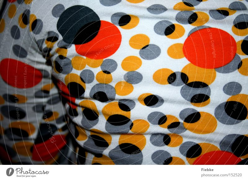 You're colourful Back Sweater Top Circle Point Pattern Colour Multicoloured Black White Orange Yellow Arm Clothing Beautiful