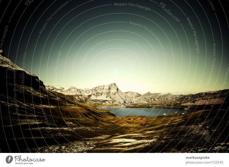 Nature Water Joy Snow Mountain Lake Coast Hiking Switzerland Pure Clarity Alpine Mountain lake Canton Obwalden