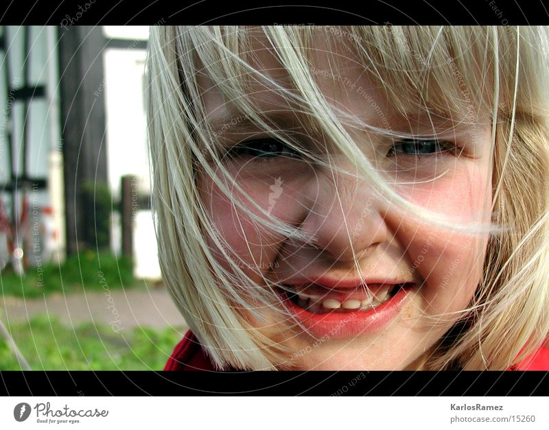 Child Laughter Blonde Sweet Playground