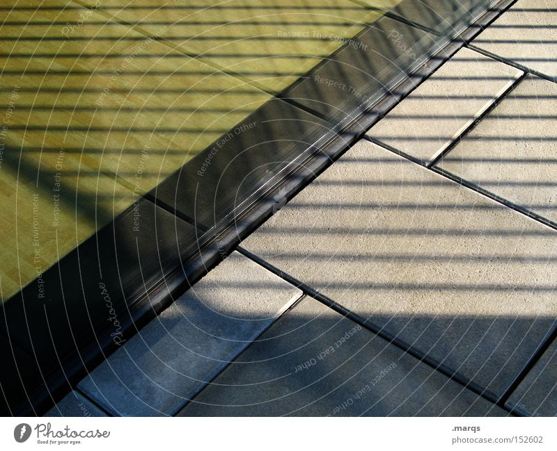 Dark Window Stone Building Line Bright Architecture Glass Floor covering Stripe Exceptional Shadow Diagonal Geometry Sharp-edged