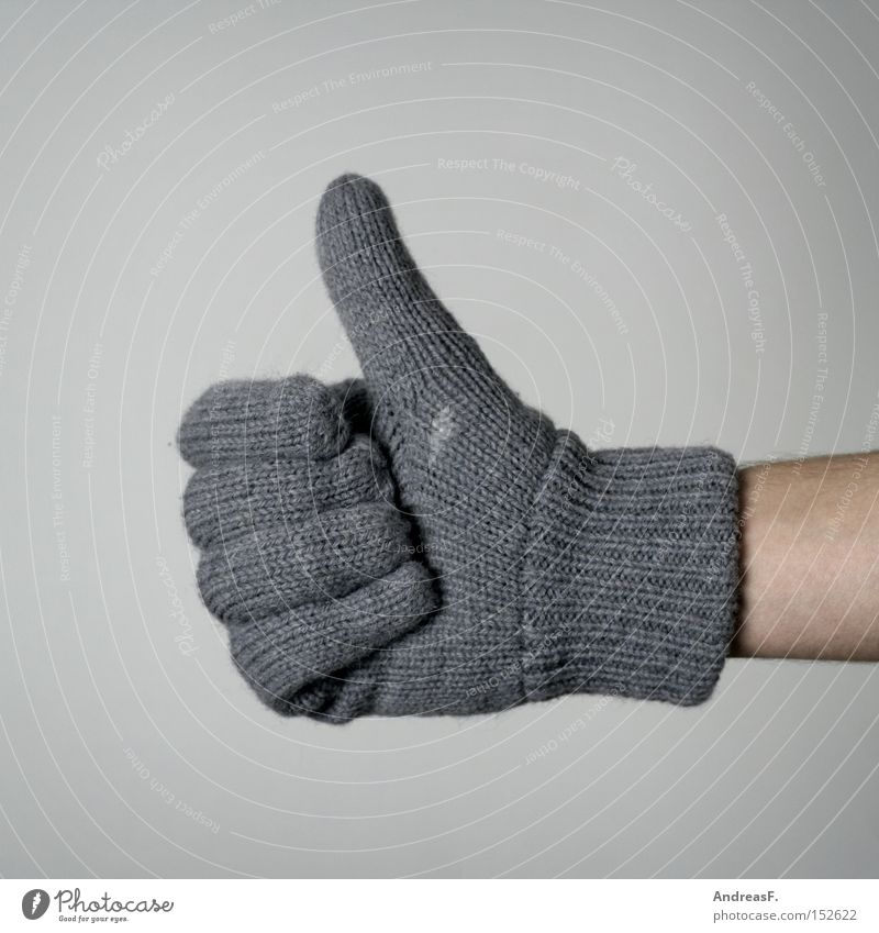 father frost Cold Gloves Winter Hand Positive Thumb Correct Heater Heating Gesture Sign Freeze Wool Knitted Warmth Frost Clothing Digits and numbers