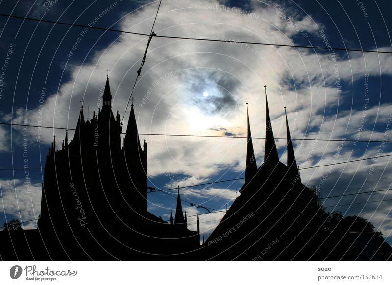 Sky Old Sun Clouds Black Dark Environment Death Feasts & Celebrations Exceptional Art Fear Fantastic Point Threat Church