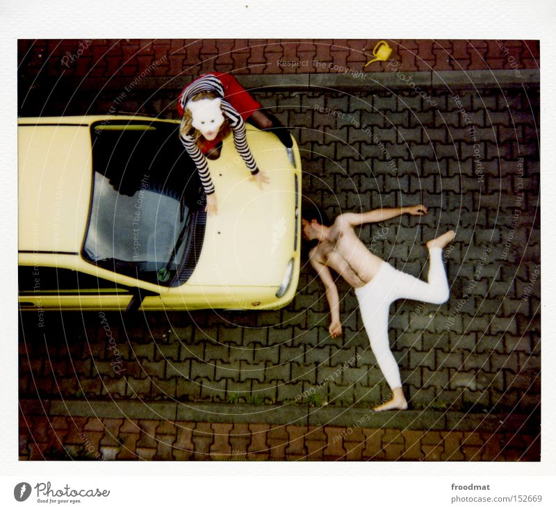 Naked Car Cat Funny Motor vehicle Hair Mask Analog Square Sporting event Polaroid China Humor Underpants Lomography Competition