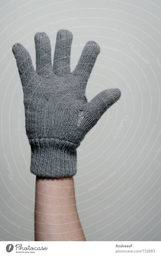 Hand Winter Cold Warmth Fingers Clothing 5 Freeze Heater Heating Gloves Wool Attract Knitted Signs of life