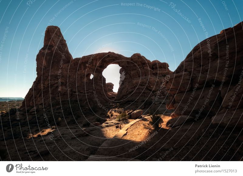 Arches National Park Harmonious Well-being Contentment Vacation & Travel Trip Adventure Expedition Summer Sun Environment Nature Landscape Sky Climate