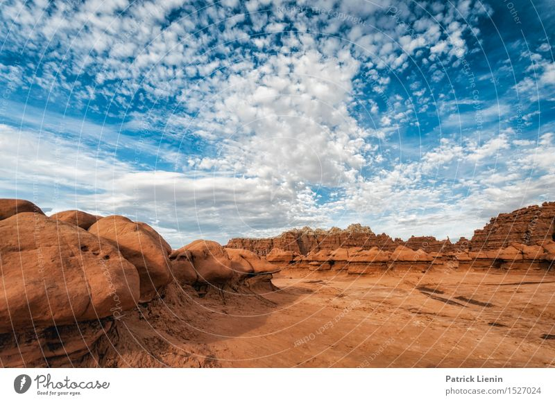 Blue Sky - Red Rock Nature Vacation & Travel Summer Landscape Clouds Far-off places Mountain Environment Warmth Freedom Weather Contentment Trip