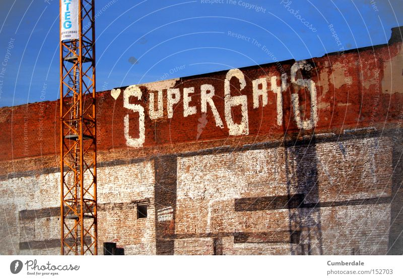 SuperGays Berlin Homosexual Graffiti Street art Town Industrial Industrial Photography Industry Factory hall Daub Wall (barrier) Freedom Homosexual man