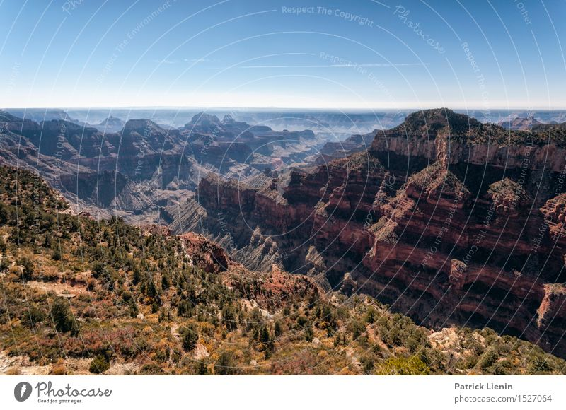 North Rim Life Harmonious Well-being Senses Relaxation Calm Vacation & Travel Tourism Trip Adventure Freedom Summer Mountain Nature Landscape Sun Climate