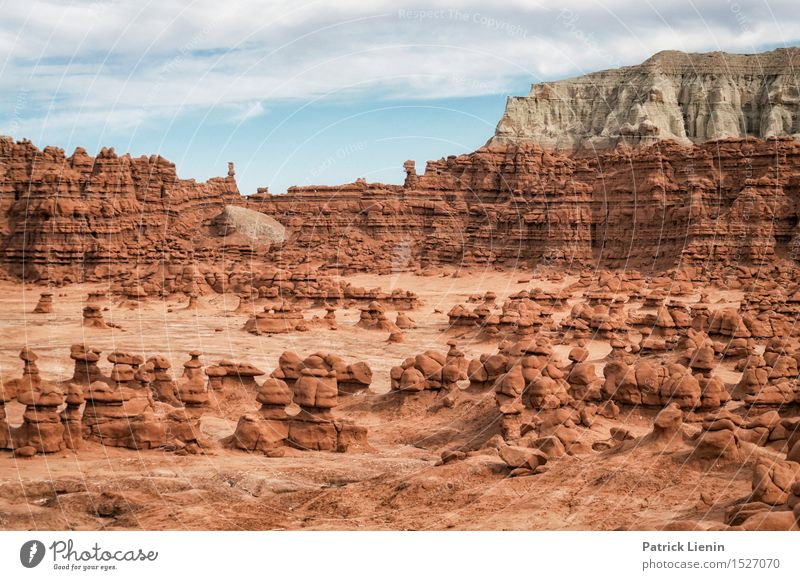Goblin Valley Vacation & Travel Tourism Trip Adventure Far-off places Freedom Summer Mountain Nature Landscape Sky Clouds Climate Climate change Weather