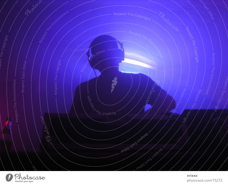 CLUB DJ Club Disc jockey Party Evening Light Photographic technology Blue