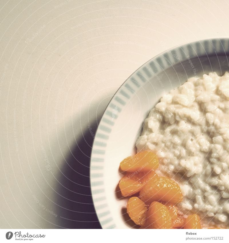 Nutrition Fruit Dish Sweet Candy Appetite Dessert Rice Vegetarian diet Dairy Products Tangerine Puree Rice pudding Rice pudding