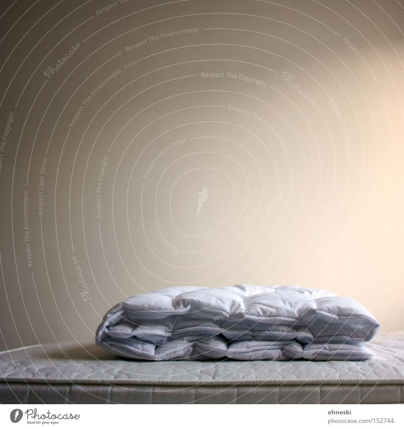 Calm Loneliness Wall Building Sleep Empty Arrangement Bed Blanket Household Room Bedroom Duvet Mattress
