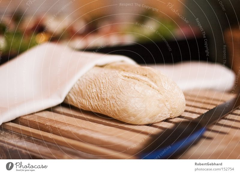 snack Bread Knives Chopping board Brunch Napkin Wood Buffet Cut Slice Fresh Baked goods Nutrition baked ciabatta Baking