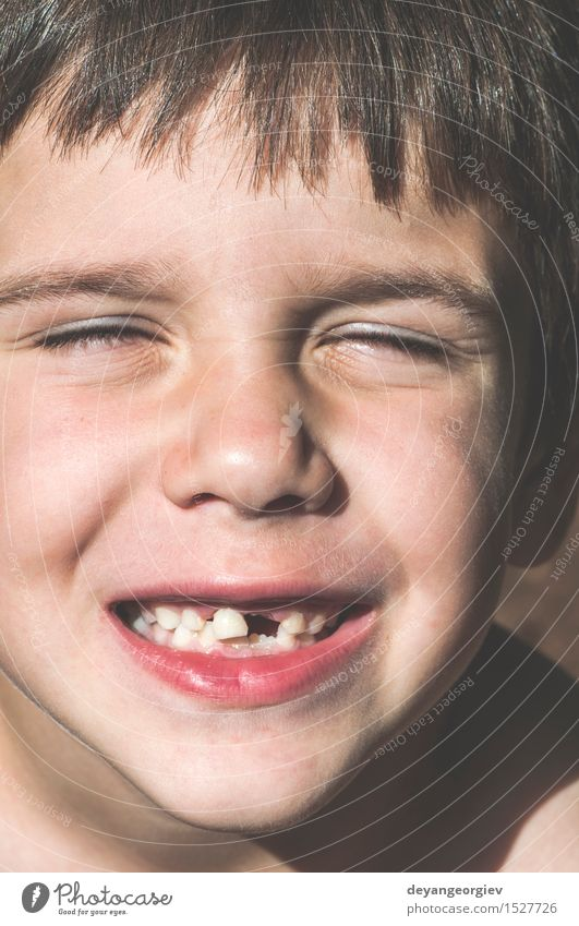 Child shows missing teeth. Happy Face Boy (child) Infancy Mouth Teeth Smiling Cute White milk Lost First kid loss background care Expression front Fairy Dental