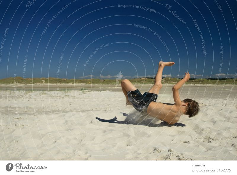 Child Youth (Young adults) Summer Joy Beach Vacation & Travel Playing Movement Happy Healthy Leisure and hobbies Athletic Well-being Recklessness