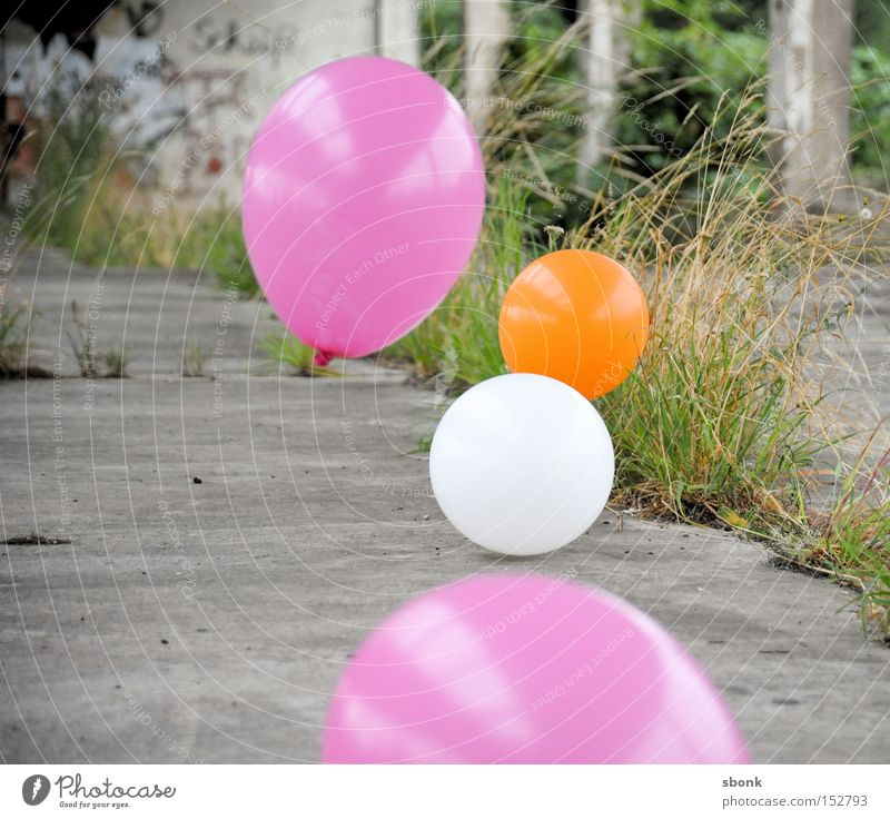 hit field balloon Balloon Pink Air Grass Playing Effortless Concrete Inflated