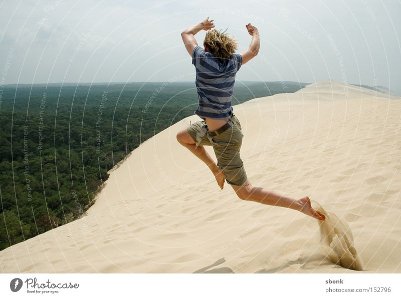 Jump into the cold green Sand Dune Hot Summer Flying Desert France Free Freedom Aviation