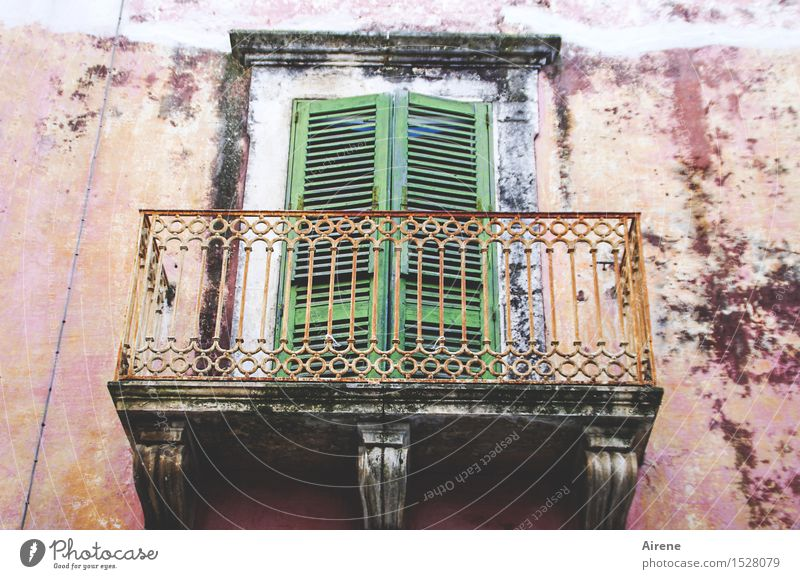 Fairy tale. Mrs. Holle's asleep. Italy Southern Europe Village Small Town Old town Deserted House (Residential Structure) Facade Balcony Window Door