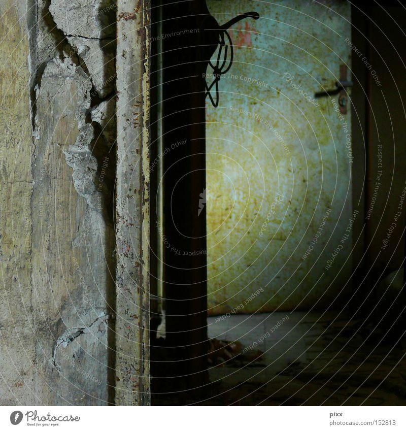Take the door. Creepy Eerie Passage Dark Shadow Light Fear Architecture Derelict Door Room Cellar door