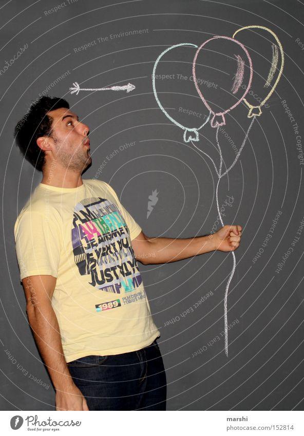 Man Beautiful Joy Air Feasts & Celebrations Funny Balloon Broken Target Toys Arrow Arrow Blow Multicoloured Human being Listening