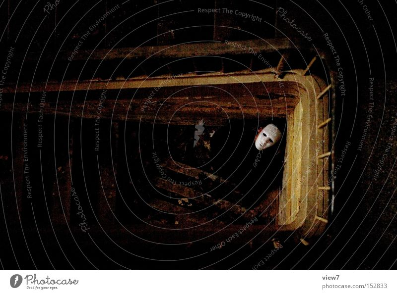FEAR. Mask Perpetrator Sacrifice Staircase (Hallway) White Invisible Unrecognizable Dark Contrast Creepy Funny Fictitious Assassin Man Fear Panic Anger