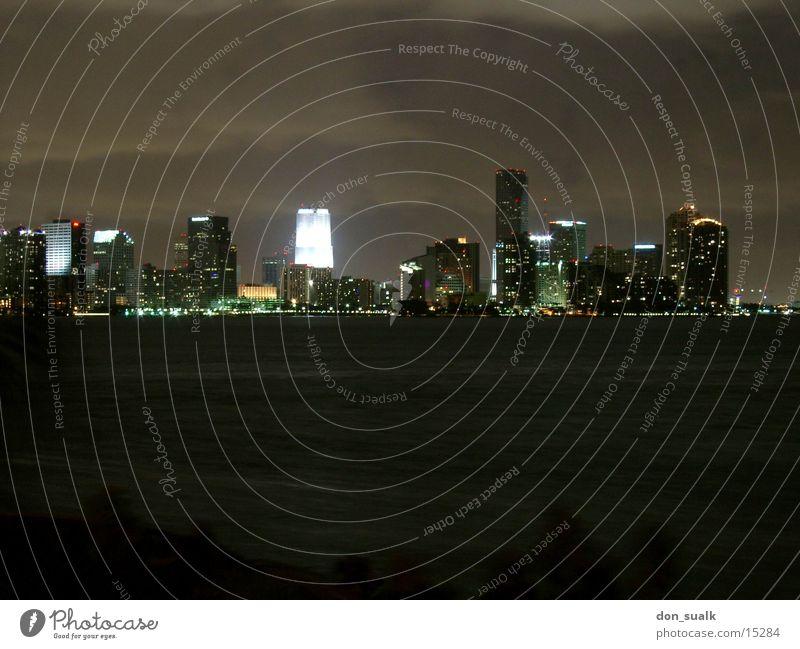 Miami Skyline Night Long exposure North America cloudykrazer Water