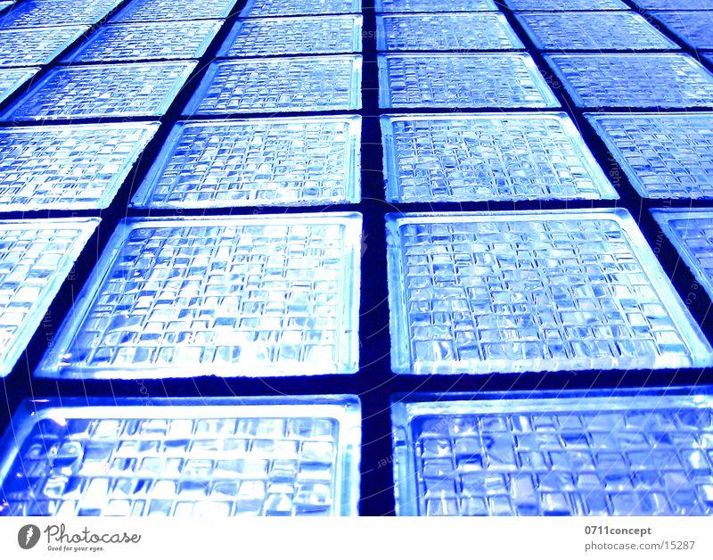 Blue Window Architecture Glass Shaft of light Schematic Matrix Glass block