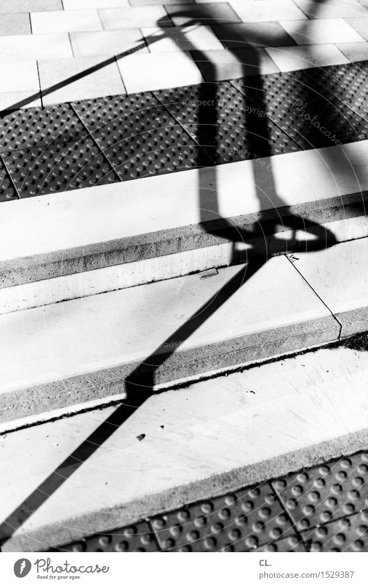 stage 2 Architecture Stairs Lanes & trails Handrail Ground Sharp-edged Black & white photo Exterior shot Abstract Pattern Deserted Day Light Shadow Contrast