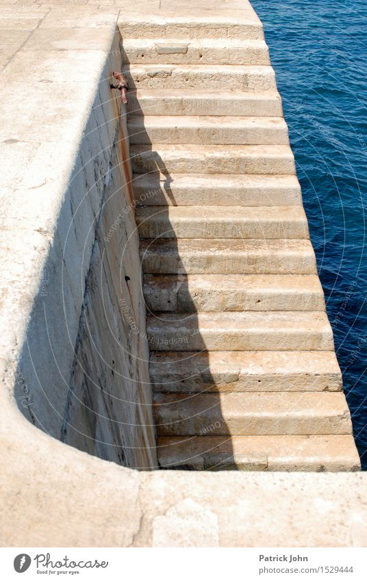 Valetta harbour staircase Leisure and hobbies Vacation & Travel Tourism Trip Sightseeing City trip Cruise Summer Summer vacation Sun Sunbathing Ocean Island