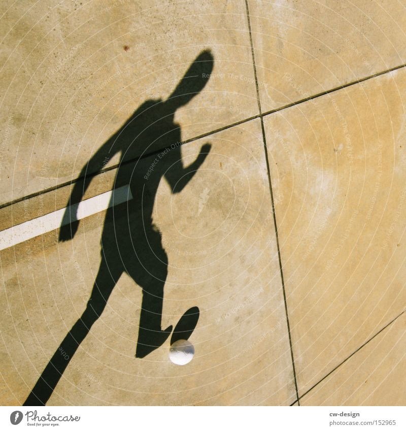 Games Worlds IV Shadow Parking lot Soccer Foot ball Beautiful weather Summer Human being Sports Leisure and hobbies Joy Youth (Young adults) Tread Playing Ball