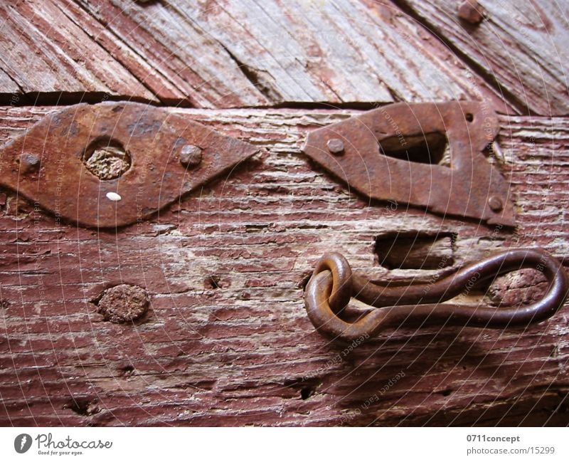 Old Wood Metal Door Closed Open Living or residing Castle Rust Historic Key