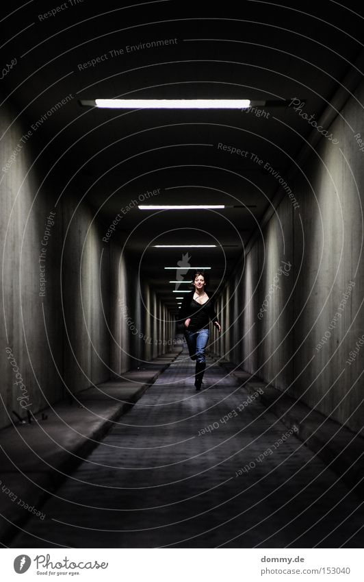 Woman Cold Walking Flying Concrete Speed Aviation Running sports Jeans Infinity Lady Tunnel