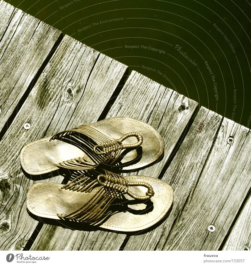 Water Summer Wood Footwear Gold Swimming & Bathing Footbridge Sandal Flip-flops