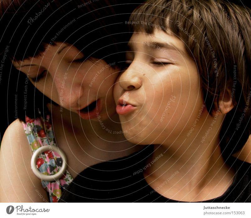 Woman Child Girl Joy Love Boy (child) Kissing Like Whim Good mood